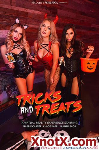 Trick Anbd Treats / Gabbie Carter, Gianna Dior, Khloe Kapri / 07-11-2019 [3D/UltraHD 2K/2048p/MP4/15.4 GB] by XnotX